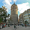 Galata Tower is the most prominent landmark in the Galata neighborhood in Istanbul, Turkey