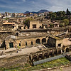 The ancient city of Herculaneum, Italy, buried by the eruption of Mt. Vesuvius in 79 AD