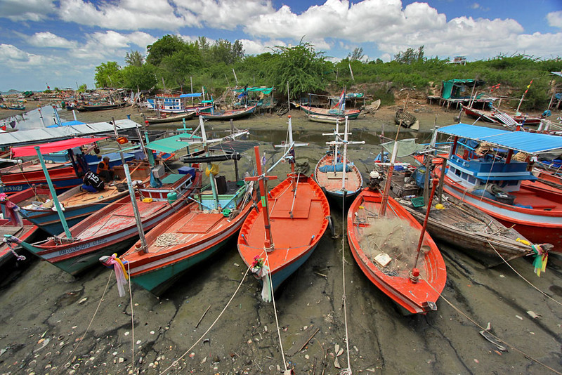 Fishing Fleet at Fisherman's Market, Hua Hin, Thailand