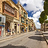 The main street and square in Victoria, on the island of Gozo in the Maltese Islands