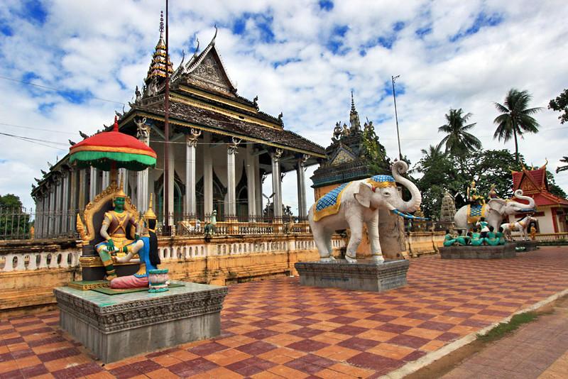 Damrey Sor Pagoda in Battambang, Cambodia