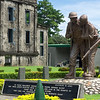 Brothers in Arms sculpture at the Pacific War Memorial on the island of Corregidor in Manila, Philippines. The memorial was constructed in 1968 by the United States Government to honor American and Filipino servicemen who participated in the Pacific War.