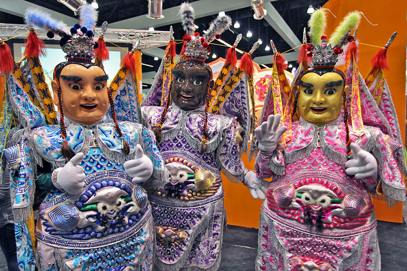 Taiwan cultural dancers perform at the LA Times Travel Show 2012
