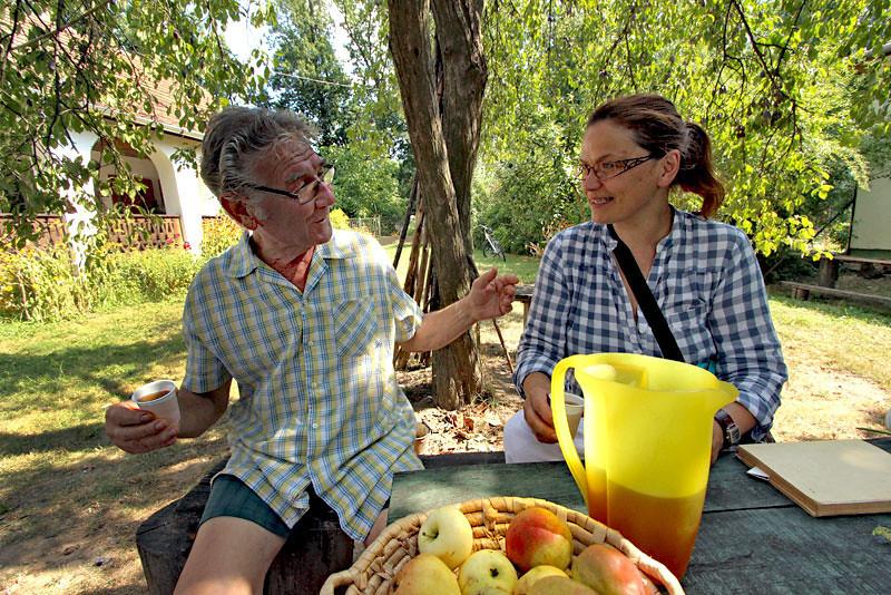 Bela Mackay, an herbalist in Szatmar County in eastern Hungary, serves his cleansing tonic