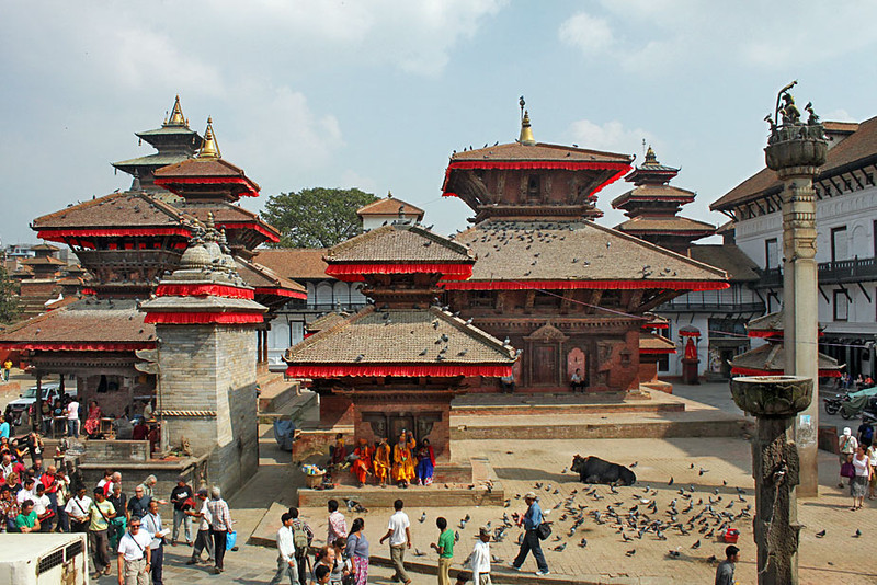 Ancient Palaces in Durbar Square, Kathmandu, Nepal