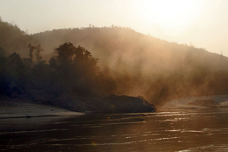 Sunrise on the Mekong River in Northern Laos