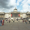 London's National Gallery anchors one end of Trafalgar Square