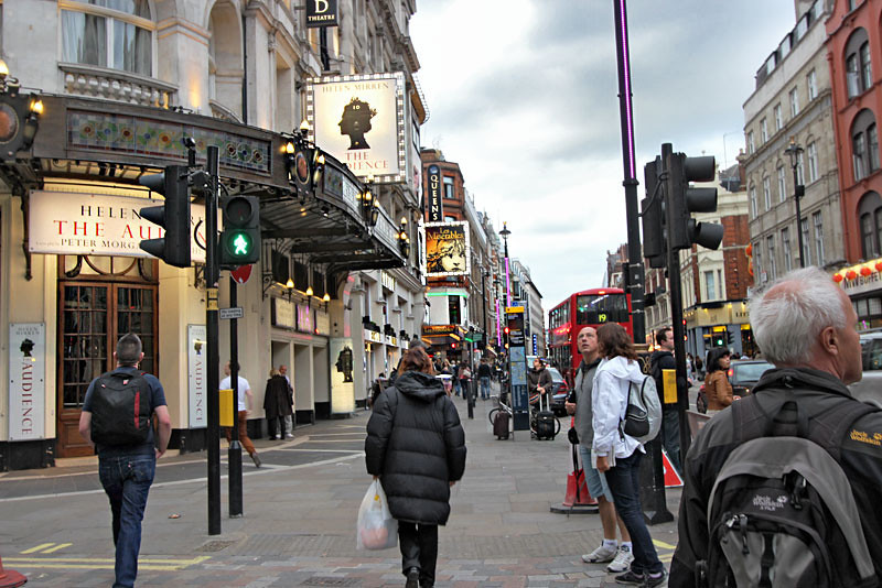 Theatre district surrounds Piccadilly Circus in London's West End