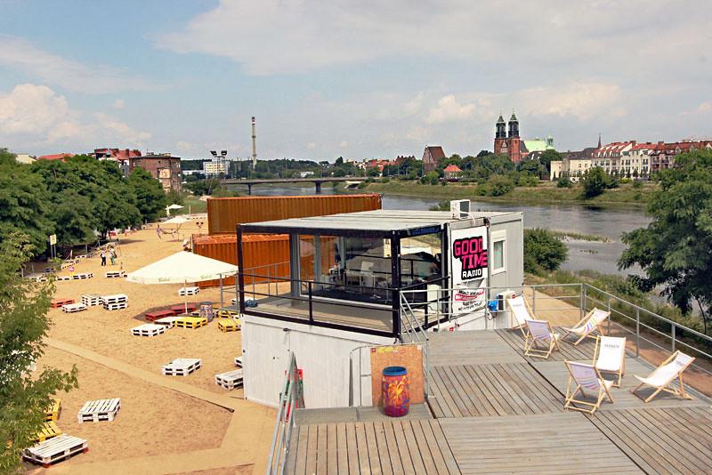Beach Park along the Warta River in Poznan, Poland