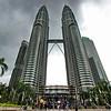 Signature Petronas Towers define the skyline of Kuala Lumpur, Malaysia