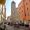 The center of Regensburg, Germany, a UNESCO World Heritage Site, is peppered with tall towers that were built by merchants in medieval times to showcase their wealth