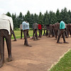 The Unrecognized, a cast-iron sculpture in Citadel Park by Magdalena Abakanowicz