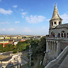 Fisherman's Bastion, high atop Buda Hill, provides excellent views over Budapest, Hungary