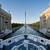 One of 18 locks along the Volga-Baltic Waterway on the voyage between Moscow and St. Petersburg, Russia