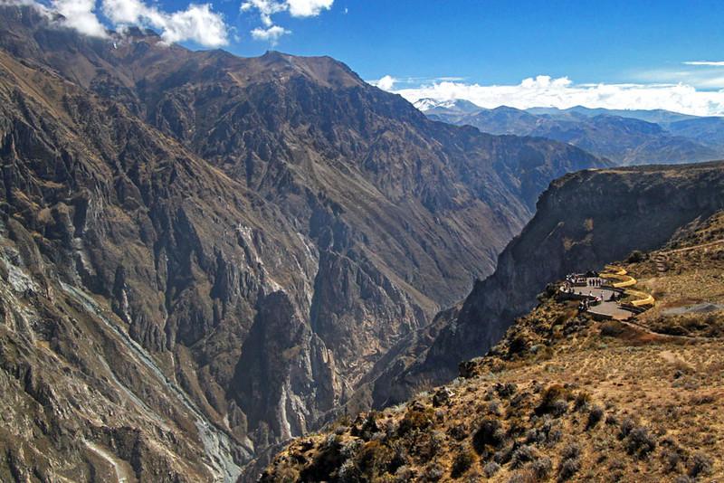 Rugged mountain terrain of Colca Canyon, Peru