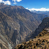 Rugged mountain terrain of Colca Canyon, Peru