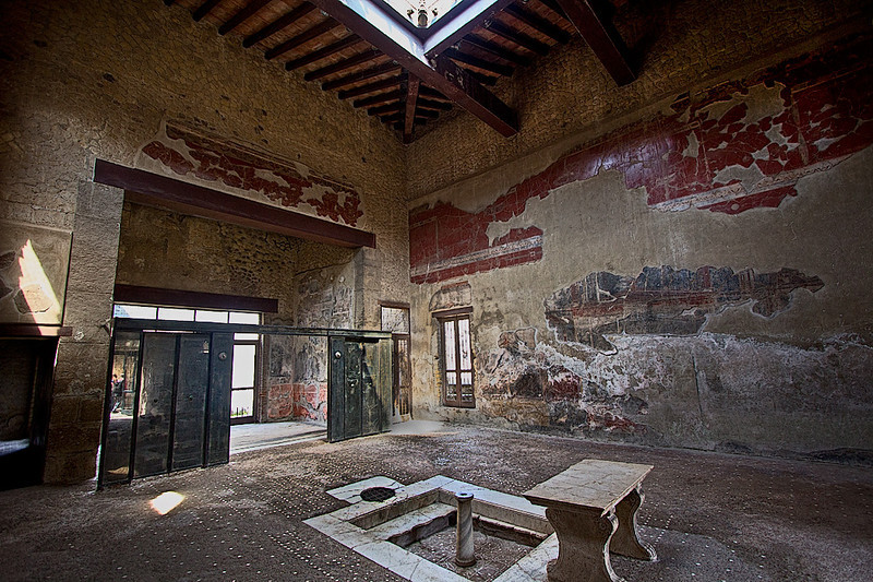 House of the Wooden Partition at Herculaneum, named for doors turned to charcoal by volcanic eruption