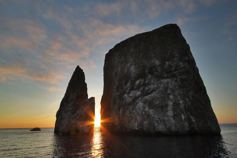 Kicker Rock at Sunset, Genovesa Island, Galapagos, Ecuador