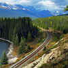 Vista Along the Bow Valley Parkway in Banff National Park, Canada