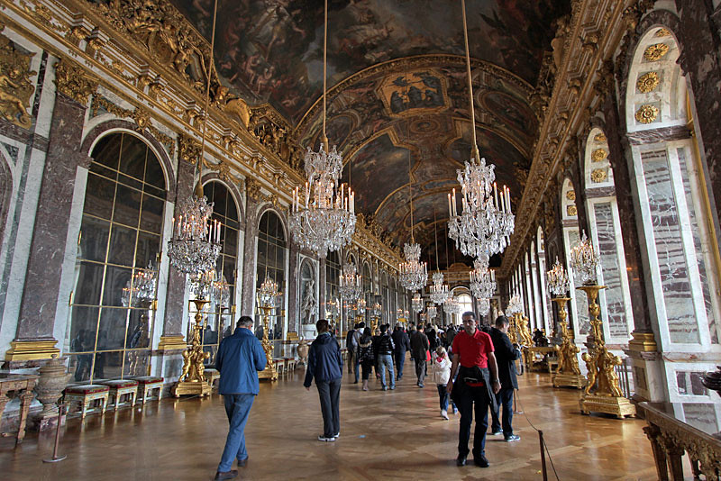 Hall of Mirrors in Versailles, France