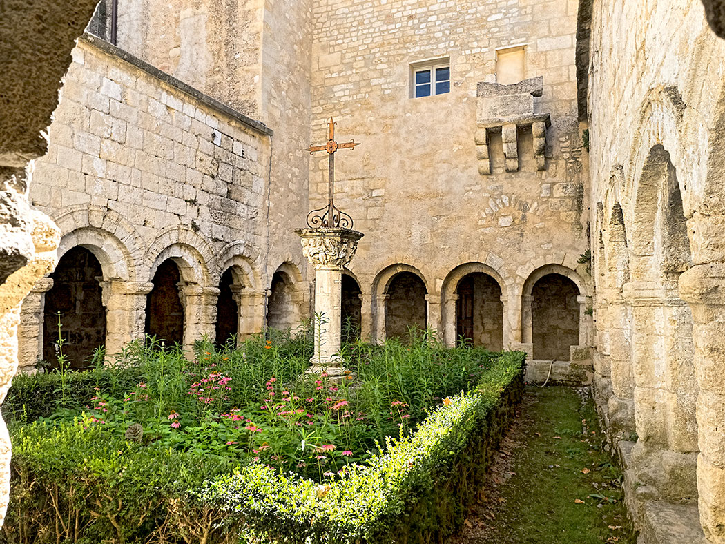Cloister inside Cavaillon Cathedral of Notre Dame and Saint Veran in Cavaillon, France