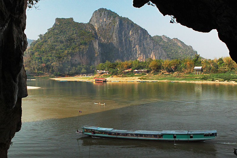 View from the Pak Ou Caves, near Luang Prabang, Laos