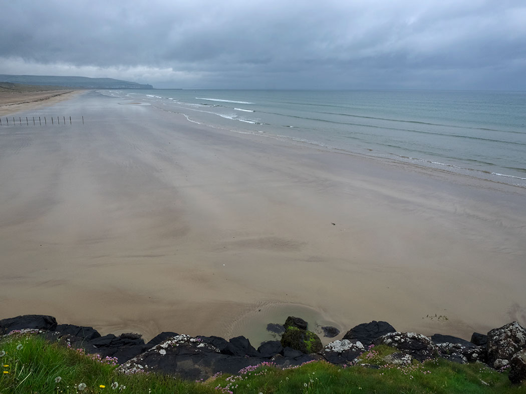 Portstewart Strand Beach, located on the Coastal Causeway in Northern Ireland