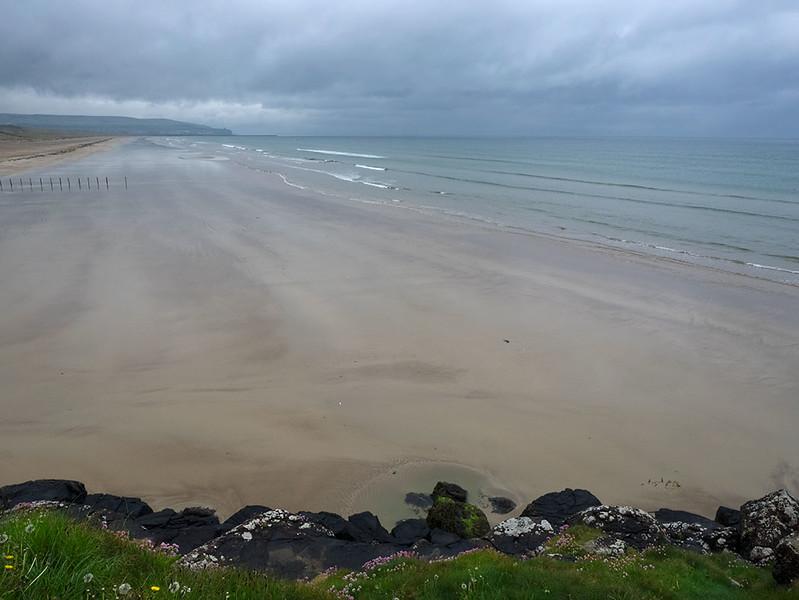 Portstewart Strand Beach, located on the Coastal Causeway in Northern Ireland