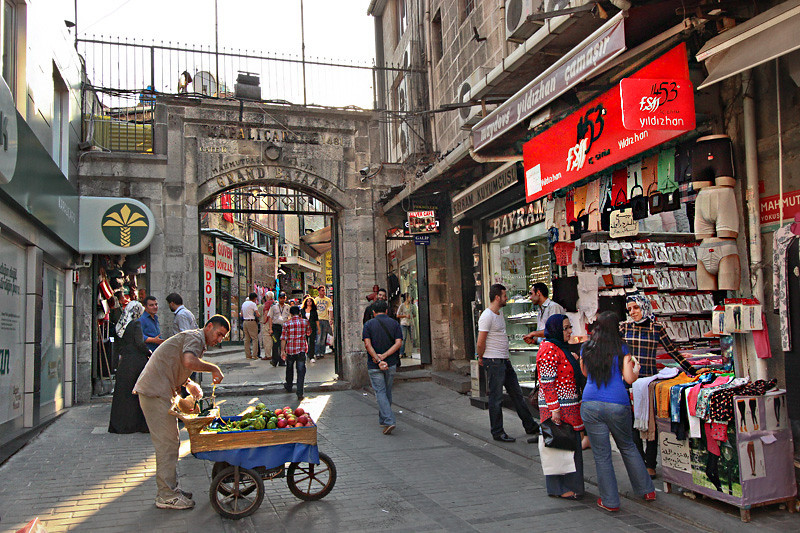 One of the entrances to the Grand Bazaar in Istanbul, Turkey