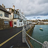 Waterfront shops in Saint Mawes, a tiny village on the Roseland Peninsula in Cornwall, England