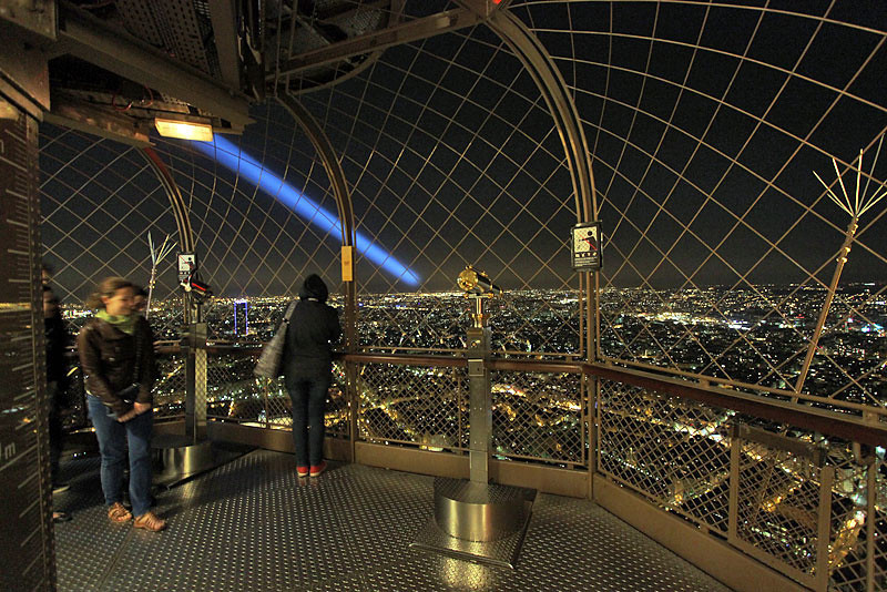 View from the top of Eiffel Tower, Paris, France
