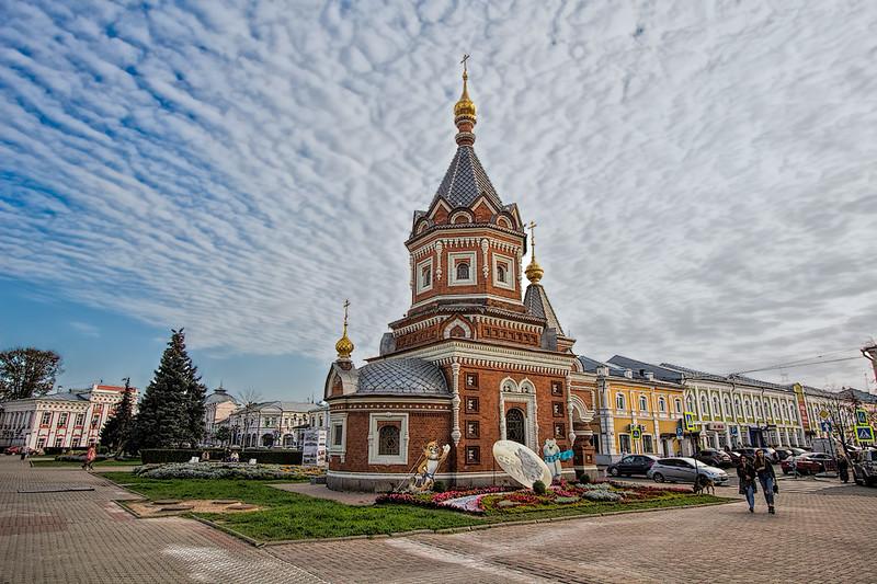 St. Alexander Nevsky Chapel in the city center of Yaroslavl, Russia
