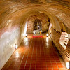 Meditation caves dug into the hillside of Wat Umong in Chiang Mai, Thailand