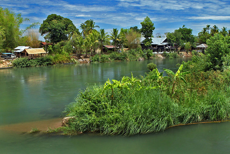 Don Khone Island on the Mekong River in Southernmost Laos