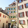 Buildings that surround the Episcopal Courtyard in Chur, the oldest town in Switzerland