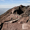 Trail around the rim of Mount Vesuvius, the volcano that buried Pompeii and Herculaneum, Italy when it erupted in 79 AD