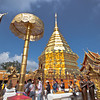 Golden chedi at Doi Suthep Temple is the jewel of Chiang Mai, Thailand