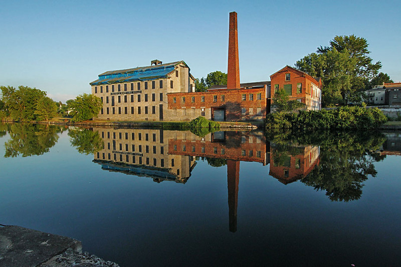 Old mills along the Cayuga-Seneca Canal in Seneca Falls, NY