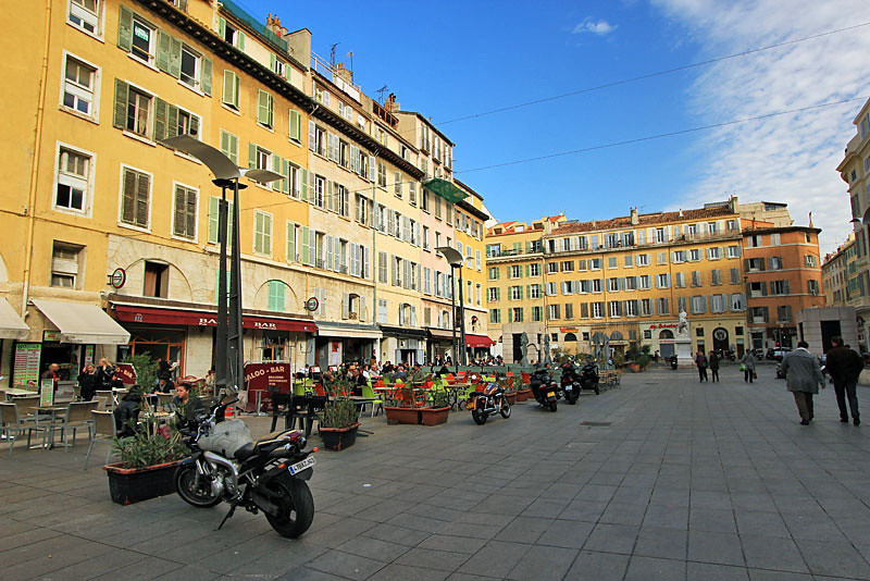 Plaza near Vieux Port, Marseille, France