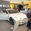 In the United Arab Emirates, shoppers go crazy taking photos of the new Tesla cars on display at Dubai Mall.