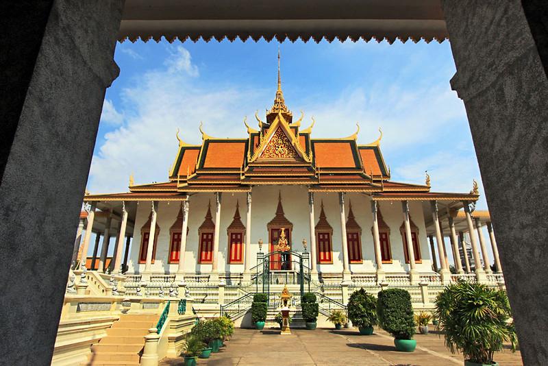 Silver Pagoda of the Emerald Buddha at Royal Palace, Phnom Penh, Cambodia