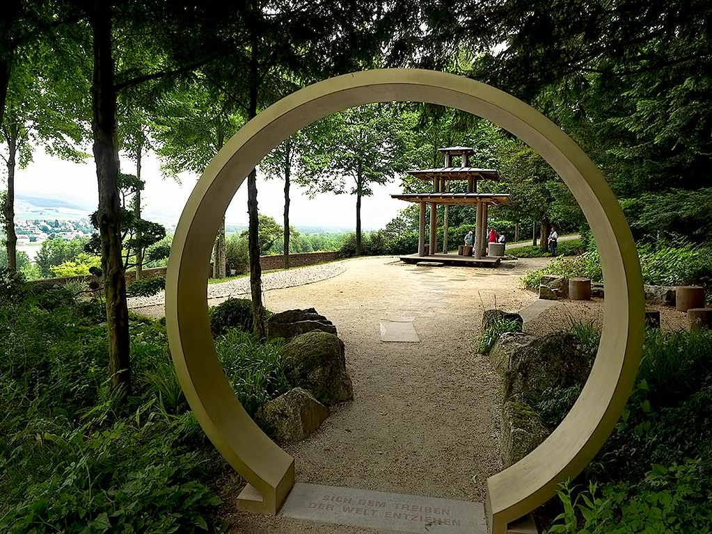 Exquisite Japanese Gardens at Melk Abbey, a Benedictine Monastery in the Wachau Valley of Lower Austria