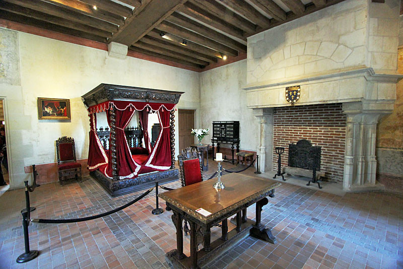 Leonardo da Vinci's bedroom at Clos Luce Chateau, Loire Valley, France