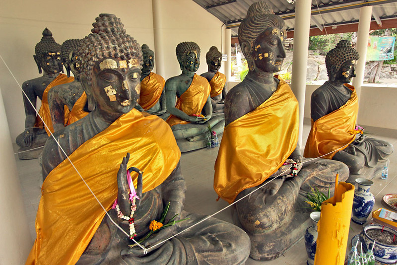 Ancient metal Buddhas in Hua Hin, Thailand