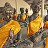 Ancient metal Buddhas in Hua Hin, Thailand