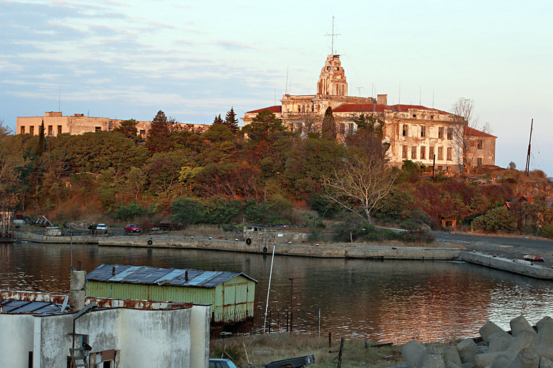 The Old Naval College at the harbor in the historic center of Sozopol, Bulgaria