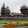 22 domed Transfiguration Church, built completely of wood, on Kizhi Island in Lake Onega, Russia