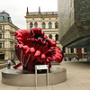 Love, a sculpture by Ana Tzarev, graces the plaza at the Prague Opera House