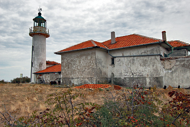 Lighthouse on St. Ivan, largest Bulgarian island in the Black Sea, just offshore from the town of Sozopol