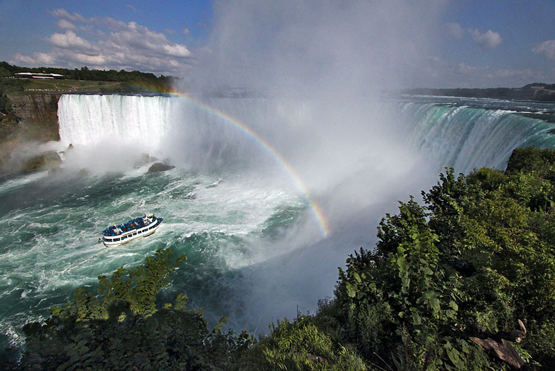 Rainbow over Horseshoe Falls at Niagara Falls, Canada